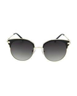 Óculos de sol preto com detalhes dourado Ramsay