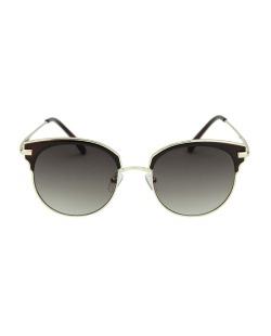 Óculos de sol marrom com detalhes dourado Ramsay