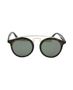 Óculos de sol marrom e preto com detalhes dourado Clegani