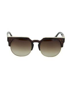 Óculos de sol marrom com detalhes dourado Brad