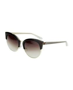 Óculos de sol marrom com detalhes dourado Iroles