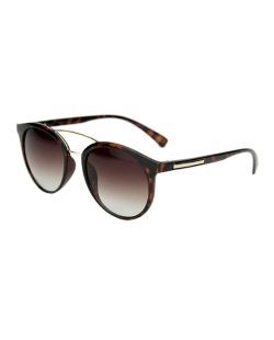 Óculos de sol marrom e preto com detalhes dourado Gendry
