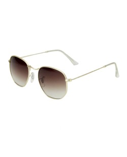 Óculos de sol marrom  com detalhes dourado Geneva
