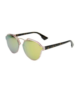 Óculos de sol preto e rosa com espelhado rosa Sande