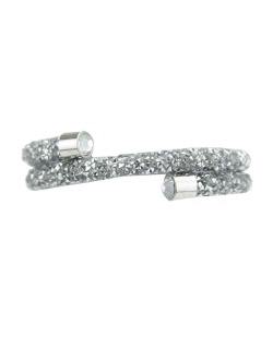 Pulseira prata com strass cristal llachar