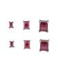 Kit 3 pares de brinco grafite com pedra rosa Argel