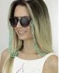 Corrente de óculos de acrílico verde Pinom