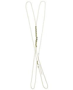 Colar body chain de metal dourado Ankor