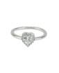 Anel de metal prateado com strass cristal e pedra cristal Namper