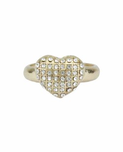 Anel de metal dourado com strass cristal Berlovar