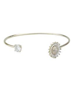 Bracelete de metal dourado com pedra cristal Netanya