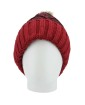 Gorro de tricô vermelho e preto Basqueba