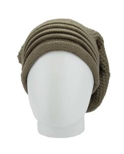 Gorro de tricô marrom Samarra