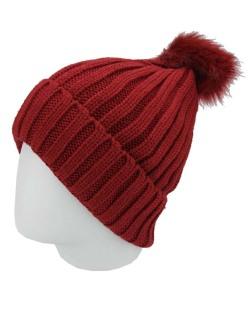 Gorro de tricô vermelho Saladino