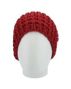 Gorro de tricô vermelho Maysan