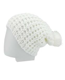 Gorro de tricô branco Maysan