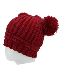 Gorro de tricô vermelho Raquas