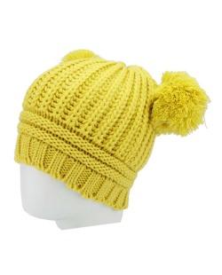 Gorro de tricô amarela Raquas