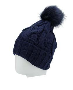 Gorro de tricô azul escuro Cadésia