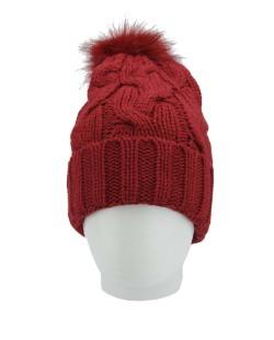 Gorro de tricô vermelho Cadésia
