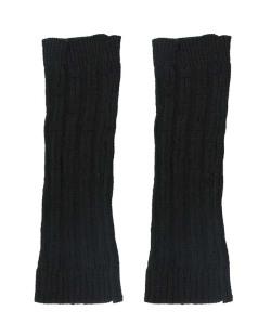 Polaina de tricô preta Sídon