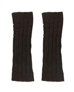 Polaina de tricô marrom escuro Sídon