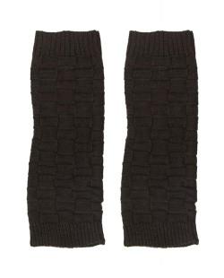 Polaina de tricô marrom escuro Trípolis