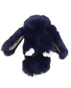 Chaveiro coelho de pelúcia azul escuro Bunny