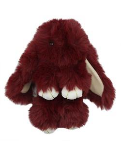 Chaveiro coelho de pelúcia vermelho Bunny