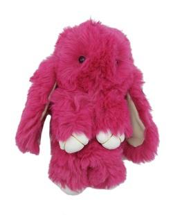 Chaveiro coelho de pelúcia rosa Bunny