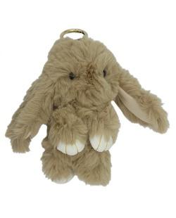 Chaveiro coelho de pelúcia marrom Bunny
