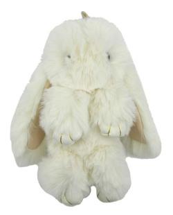 Chaveiro coelho de pelúcia bege Bunny