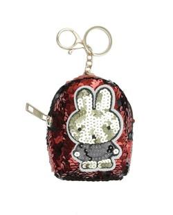 Chaveiro bolsinha de coelho com lantejoulas vermelha Airolaf