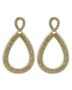 Maxi brinco de metal dourado com strass licor Addicted