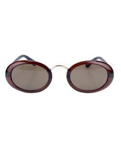 Óculos de sol marrom com detalhe dourado Amazón