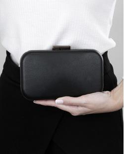 Bolsa de mão clutch preta com grafite Hamnor
