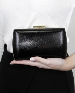 Bolsa de mão clutch preta com dourado Bahyn