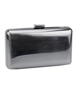 Bolsa de mão clutch de metal grafite Cleann