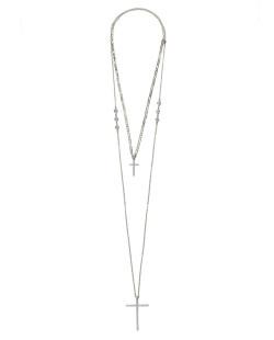 Kit 2 colares de metal dourado com strass cristal DonJuan