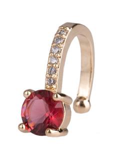 Piercing fake dourado com pedra vermelha e strass cristal Amazing