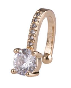 Piercing fake dourado com pedra e strass cristal Amazing