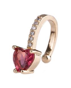 Piercing fake dourado com pedra vermelha e strass cristal Feels