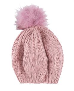 Gorro de tricô rosa Casio
