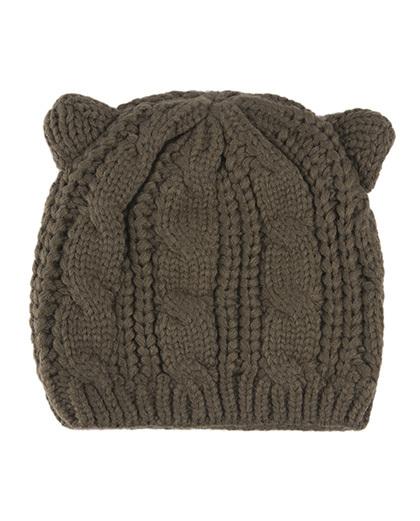 Gorro de tricô verde Bear