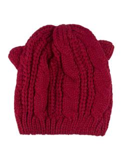 Gorro de tricô vermelho Bear