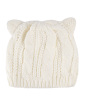 Gorro de tricô off white Bear