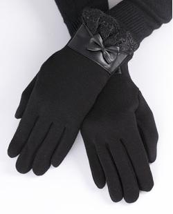 Luva de algodão preta Kloppel