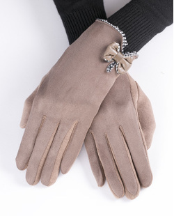 Luva de algodão marrom claro Bravón
