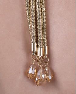 Colar de metal dourado brilhante Cyrus