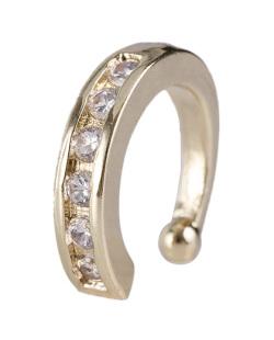 Piercing fake dourado com strass cristal Kristen
